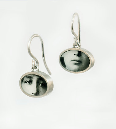 EYES & MOUTH Photo Earrings/small/ (ORDER)