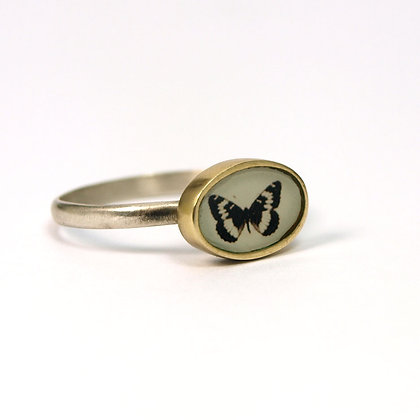Tiny Butterfly Photo Ring