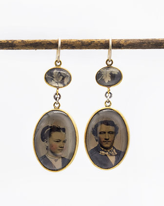 Portrait Photo Earrings(In Stock) One of a kind
