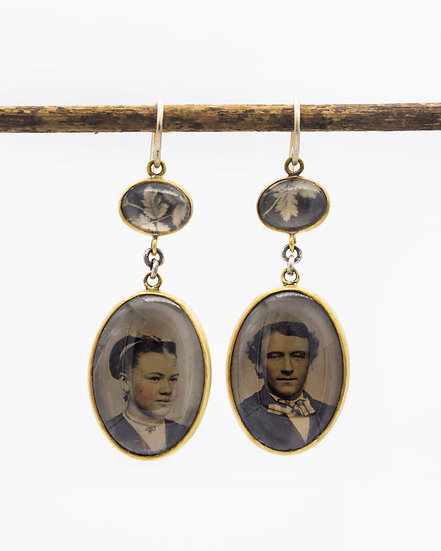 Portrait Photo Earrings/One of a kind ( in stock)