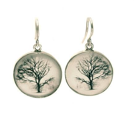Tree Photo Droplet Earrings
