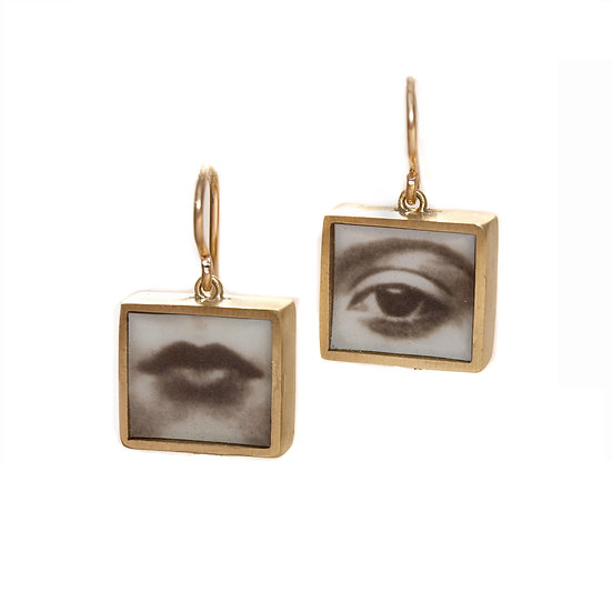 EYE & MOUTH  Earrings (made to order)