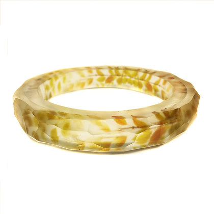 Golden Leaves Resin Bangle(ORDER)