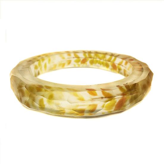 Golden Leaves Resin Bangle(ORDER)2 Sizes