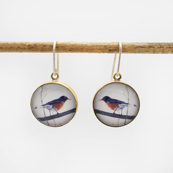 Robin Photo Earrings  (made to order)