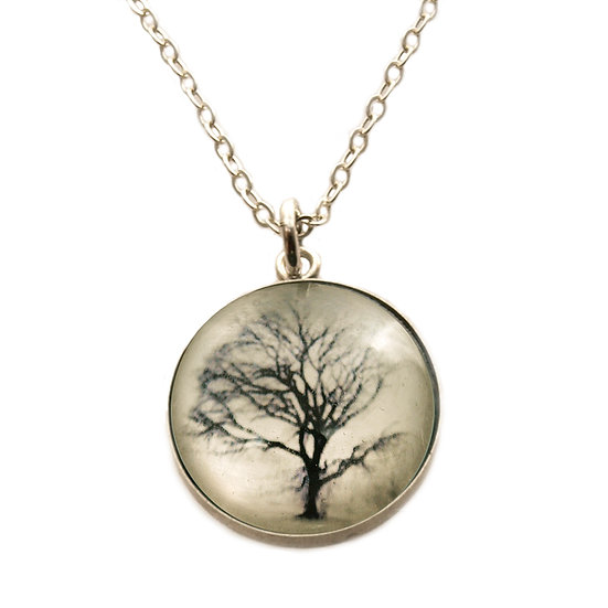 Tree Droplet Photo Pendant