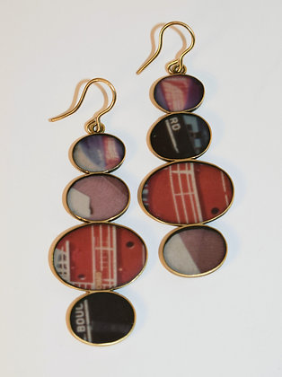 NEW Stacked Oval VINTAGE PHOTO Earrings  (IN STOCK)