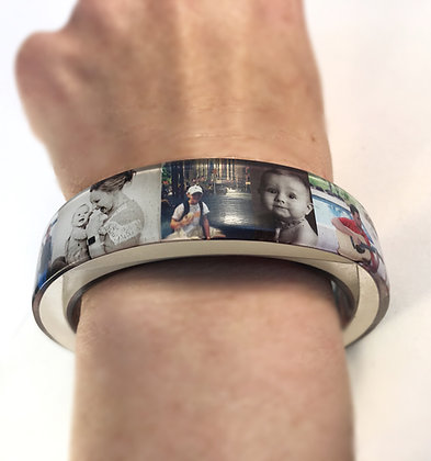 Custom Resin Photo Bangle Bracelet