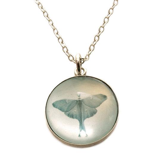 Luna Moth Droplet Photo Pendant