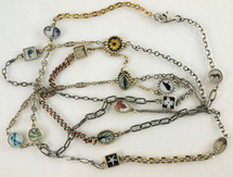 Long Photo & Mixed Chain Necklace