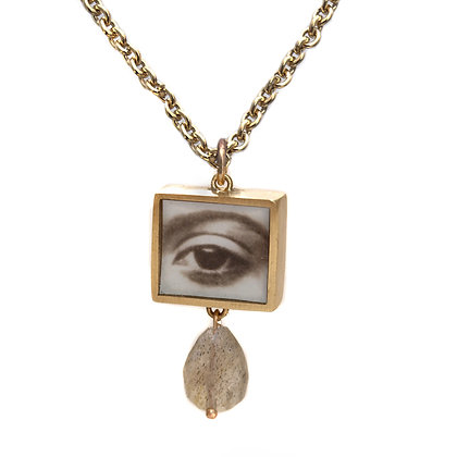 Square Eye Photo Pendant