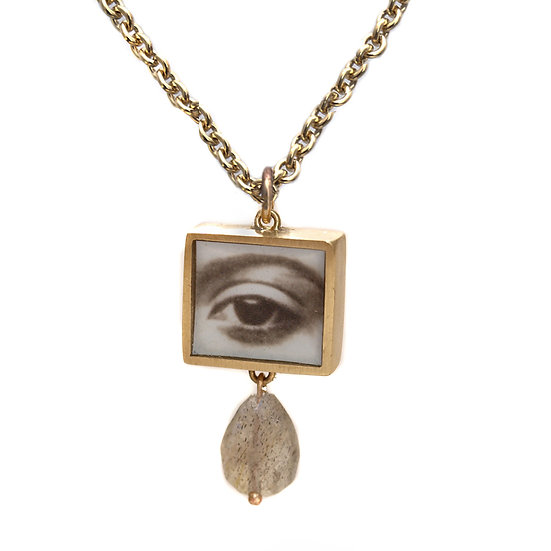 Square Eye Photo Pendant