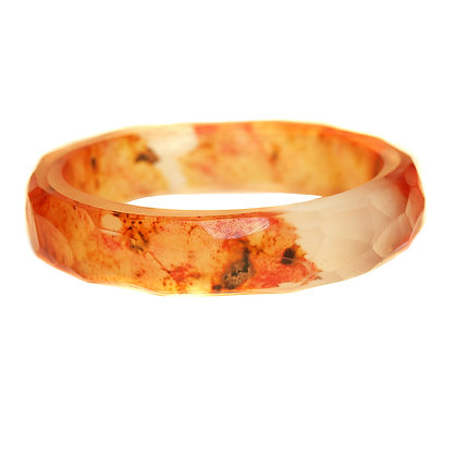 Orange Leaf  Resin Bangle