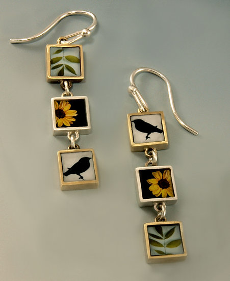 Triple Collage Photo Earrings (made to order)