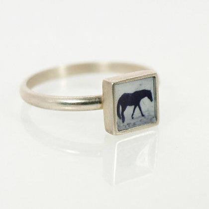 Tiny Horse Photo Ring