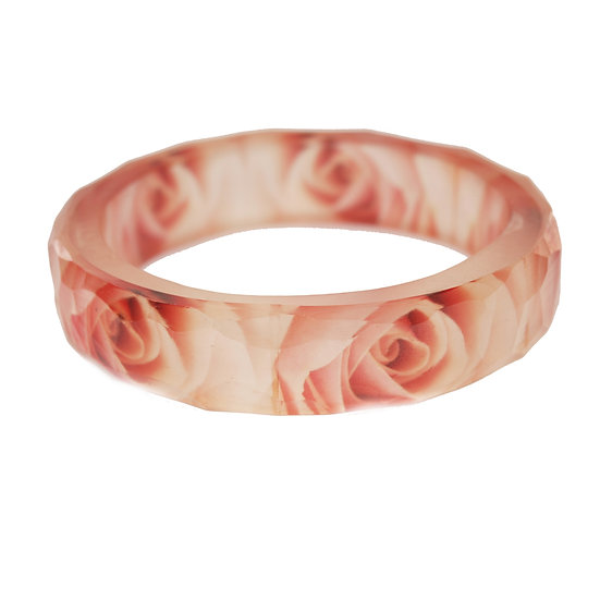 Rose Resin Bangle(ORDER) 2 Sizes