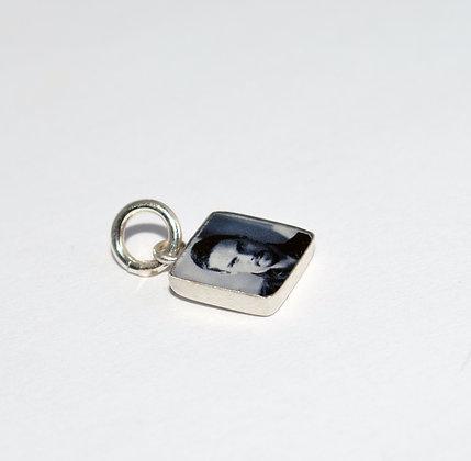 Square Photo Charm/silver/8mm
