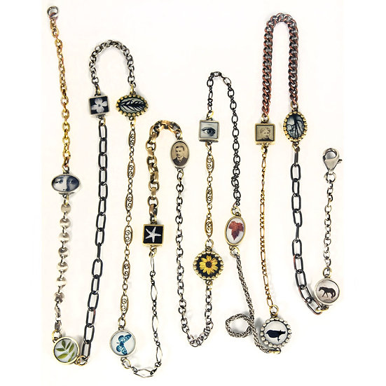 Long Mixed Chain & Photo Necklace (ORDER)