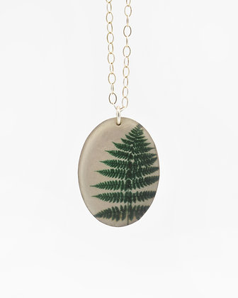 Fern Photo Pendant Necklace (IN STOCK) sterling silver