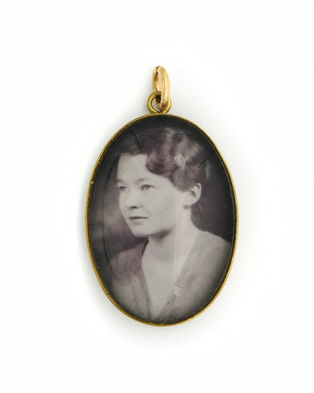 Photo Charm/Pendant/Necklace/25x18mm Brass Oval with Glass