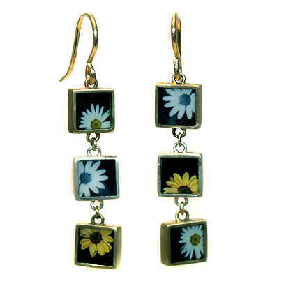 Triple Collage Photo Earrings (ORDER)