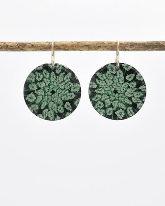 Queen Anne's Lace  Photo Earrings(IN STOCK) Sterling Silver