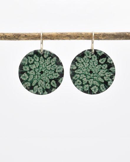 Queen Anne's Lace  Photo Earrings(IN STOCK) Sterling Silver