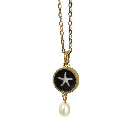 Tiny Starfish Photo Pendant(order)