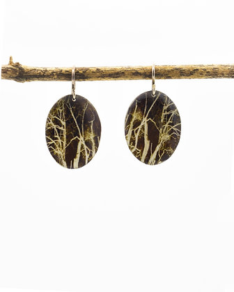 Branches Photo Earrings (IN STOCK) sterling silver