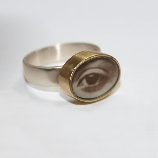 Large Oval Eye Ring