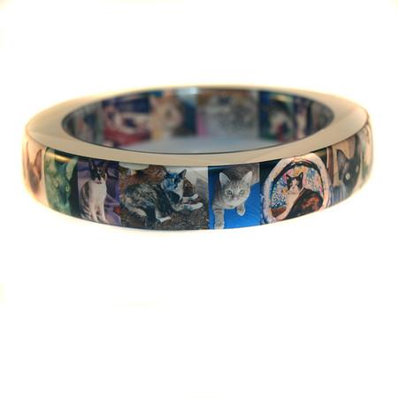 Photo Resin Bangle Bracelet