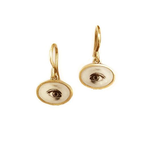 EYE Photo Earrings/ Small/ (ORDER)