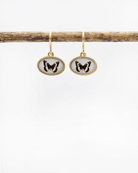 Bronze Butterfly Photo Earrings( in stock)