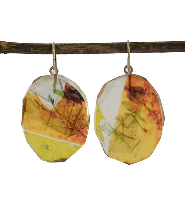 Natural Elements Photo Resin Earrings/ IN STOCK