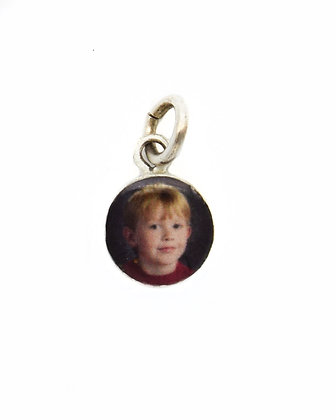 Photo Charm/8mm Sterling Silver Circle with Resin