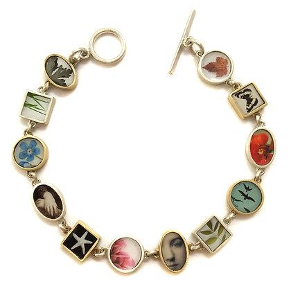 COLLAGE PHOTO Bracelet/Bronze & Silver/Color ( IN STOCK)