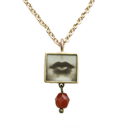 Square Lips Photo Pendant