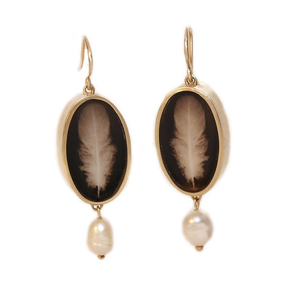 FEATHER Photo Earrings/ORDER/