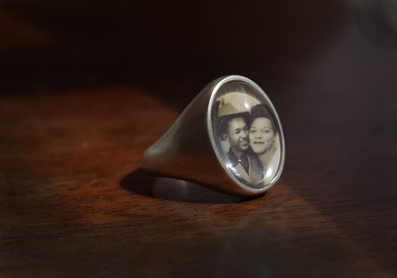 Personalized Photo Ring/Large
