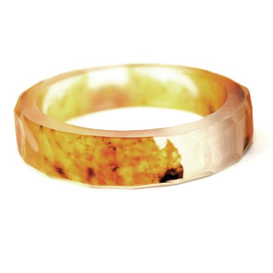Golden Leaf Resin Bracelet(IN STOCK)Medium