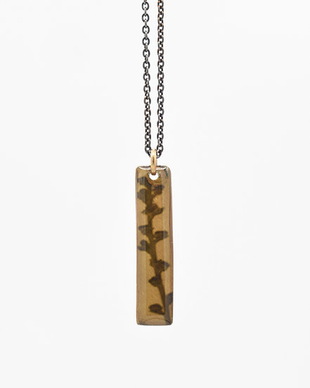 Budding Branch Photo Pendant(IN STOCK)  Bronze & Silver/Art Pendant/Nature Jewel