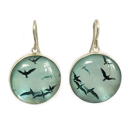 BIRDS Droplet Earrings(ORDER)