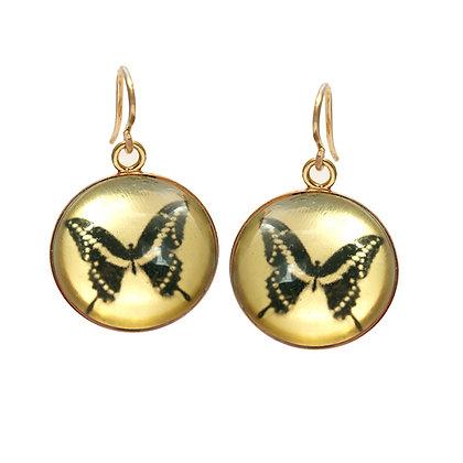 BUTTERFLY Droplet Earrings/Gold/( IN STOCK)