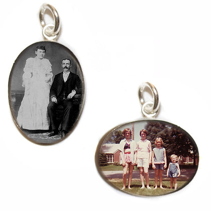 Photo Charm/Pendant/12x16mm oval