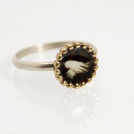 Tiny Hands Photo Ring