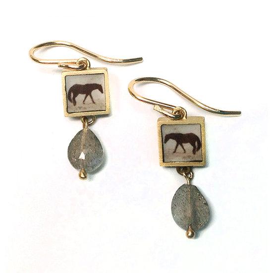 HORSE Photo Earrings(ORDER)