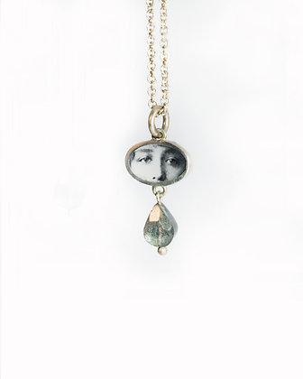 EYES Photo Pendant/silver/  (IN STOCK)