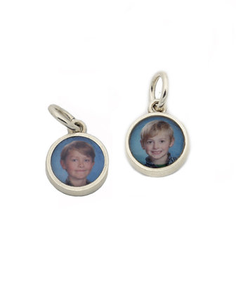 DOUBLE SIDED Photo Charm/8mm/Personalized/Sterling Silver