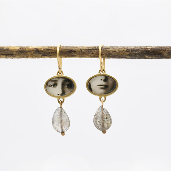 Little  Eyes & Mouth  Photo Earrings  (made to order)