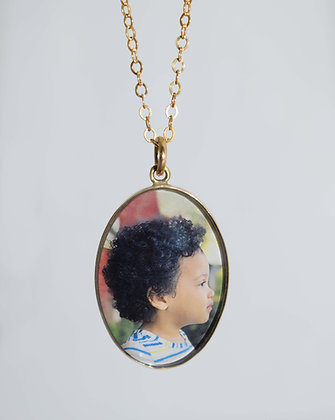 Brass Photo Charm/Pendant/Necklace/25x18mm/Personalized